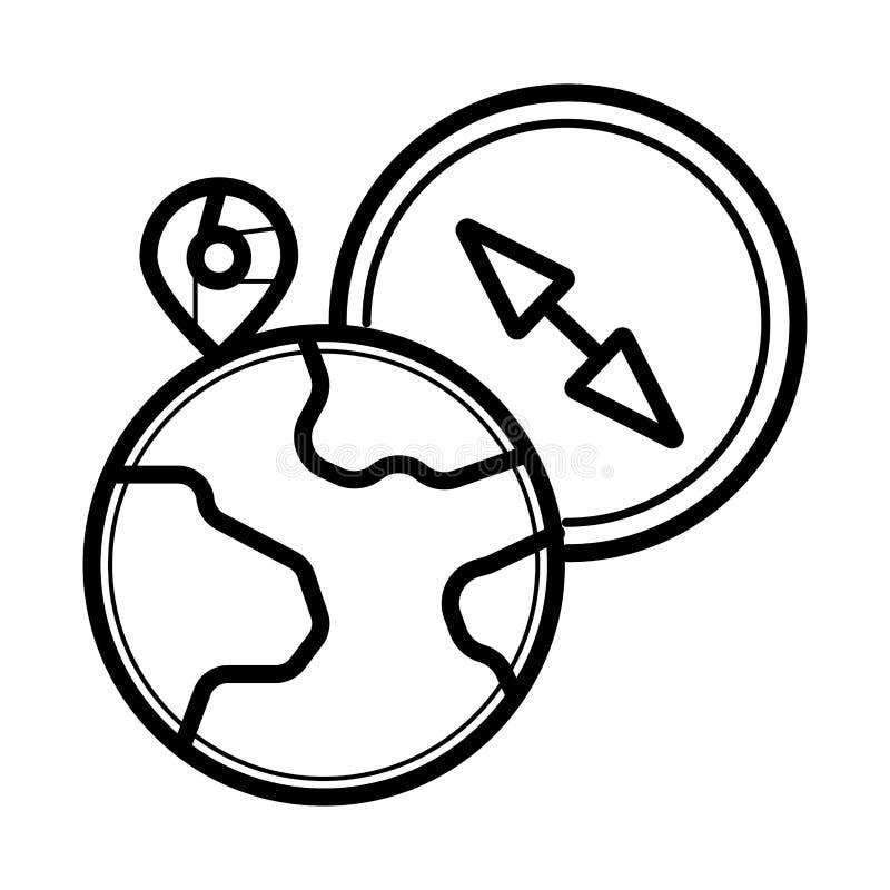 Icône de vecteur de Compas illustration libre de droits