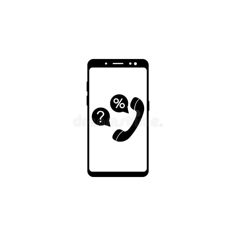 icône de vecteur de conseil d'opérations bancaires de smartphone pour des sites Web et la conception plate minimalistic mobile illustration de vecteur