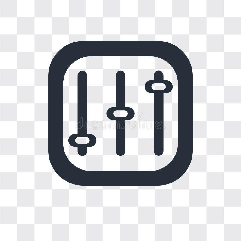 Icône de vecteur de contrôles d'isolement sur le fond transparent, conception de logo de contrôles illustration stock