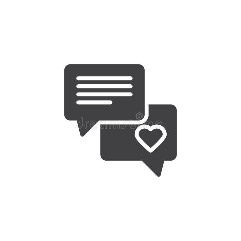 Icône de vecteur de conversation de causerie d'amour illustration libre de droits