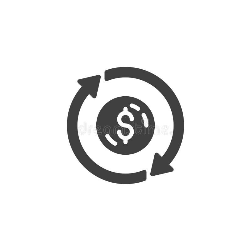 Icône de vecteur de converti d'argent illustration libre de droits