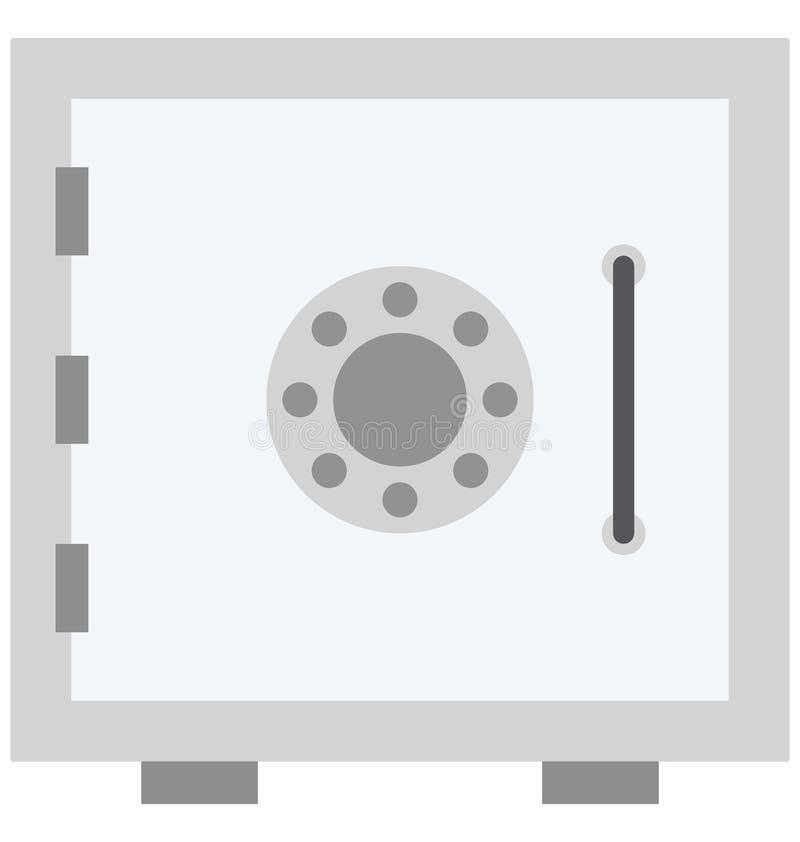 Icône de vecteur de couleur de chambre forte de banque qui peut facilement modifier ou éditer illustration de vecteur
