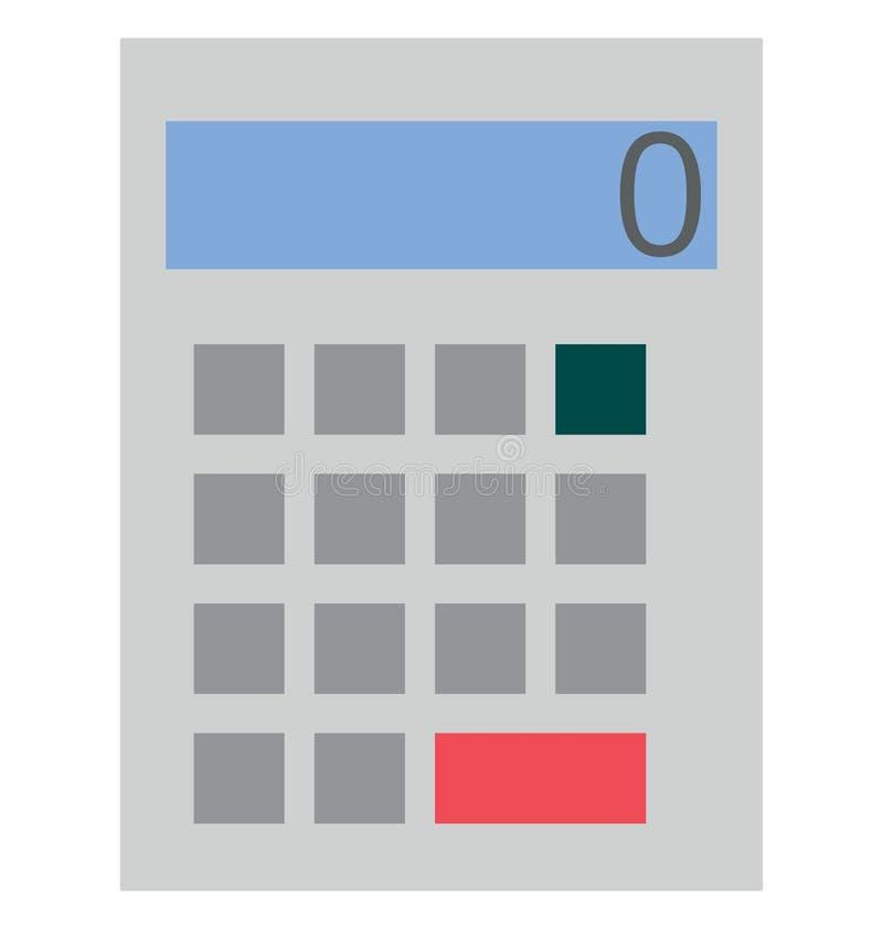 Icône de vecteur de couleur d'isolement par calculatrice photos libres de droits