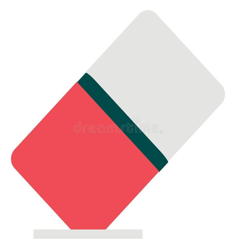 Icône de vecteur de couleur d'isolement par gomme images libres de droits