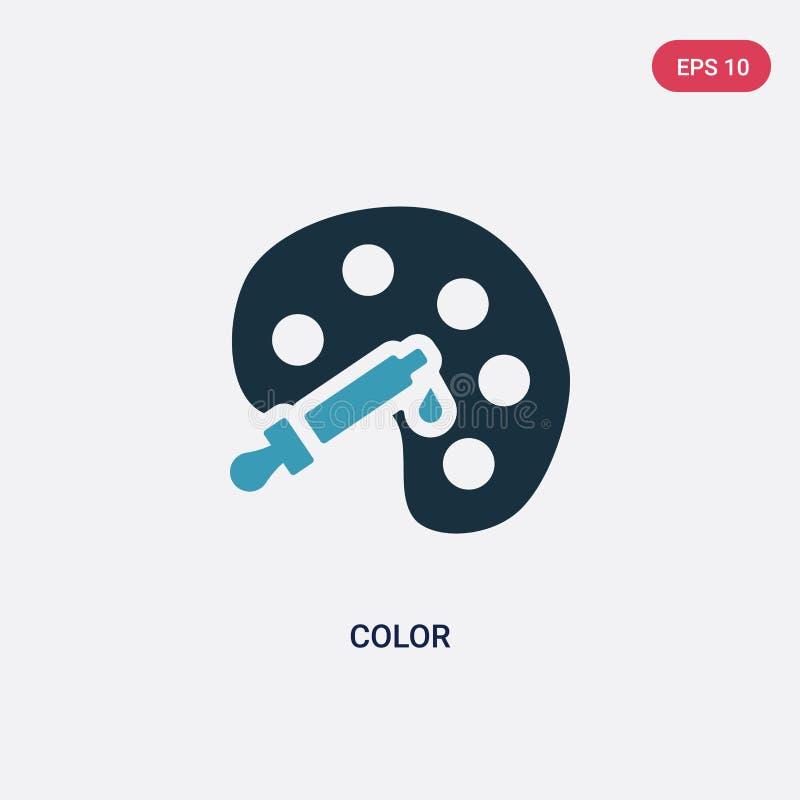 Icône de vecteur de couleur de deux couleurs de concept social le symbole bleu d'isolement de signe de vecteur de couleur peut êt illustration de vecteur
