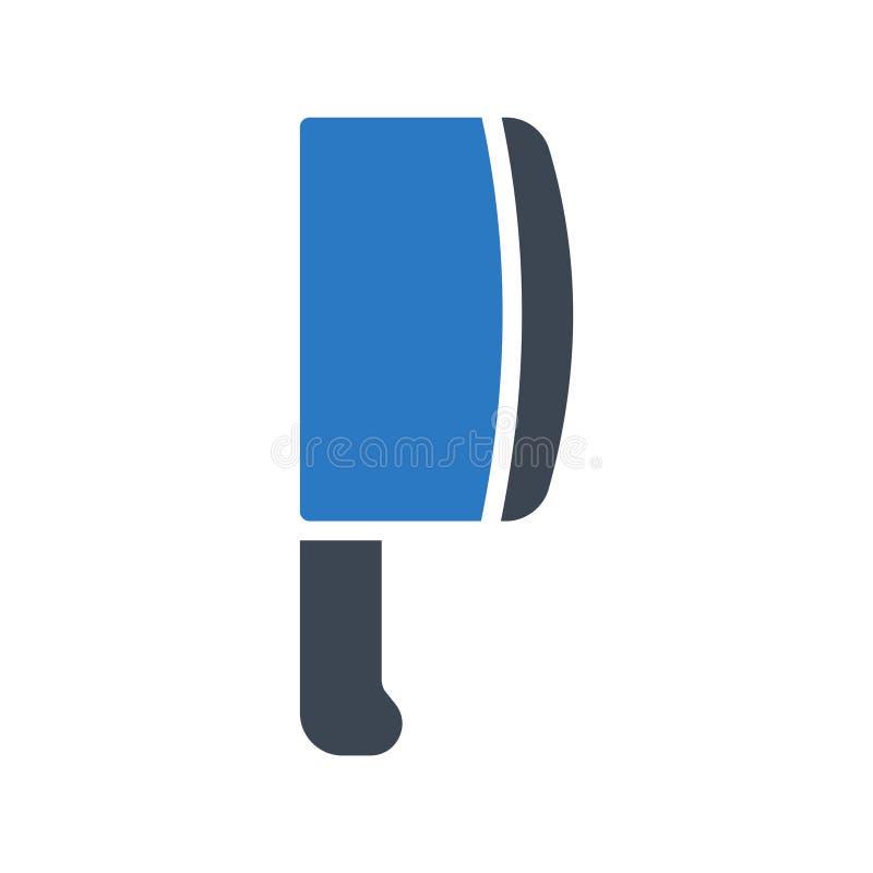 Icône de vecteur de couleur de glyph de couteau illustration libre de droits