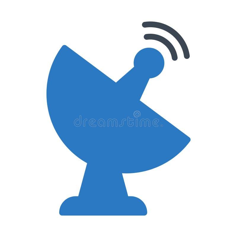 Icône de vecteur de couleur de glyph d'antenne illustration libre de droits