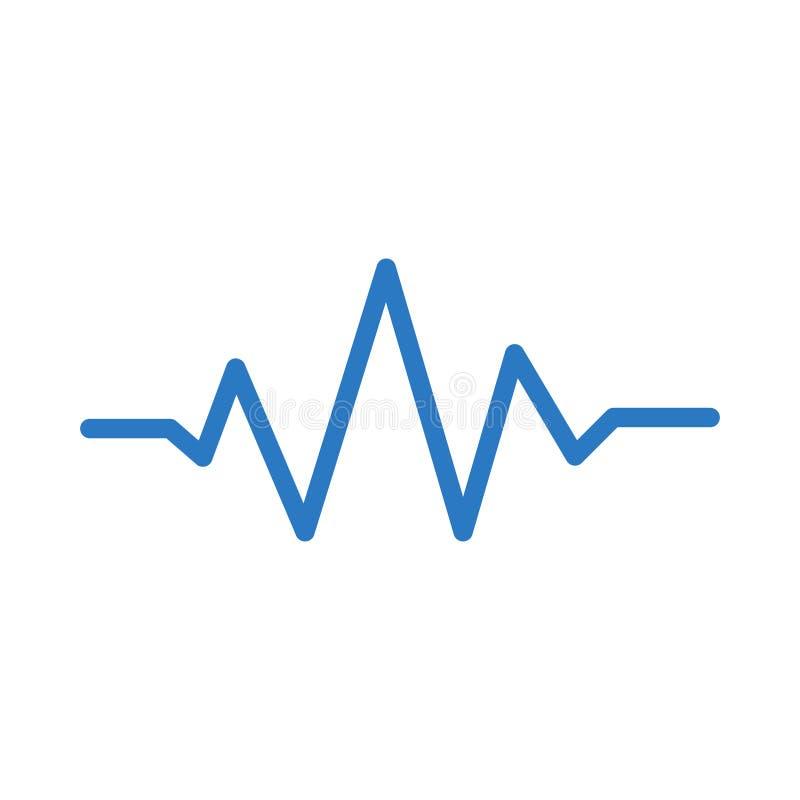 Icône de vecteur de couleur de glyph de musique illustration libre de droits