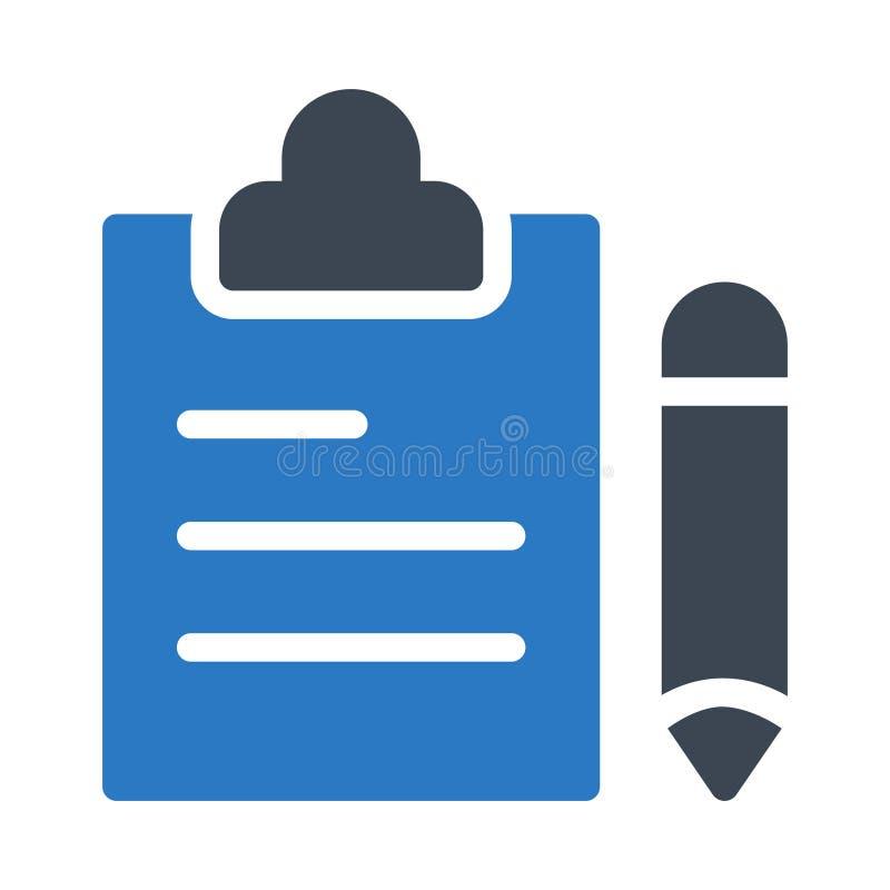 Icône de vecteur de couleur de glyph de presse-papiers illustration de vecteur