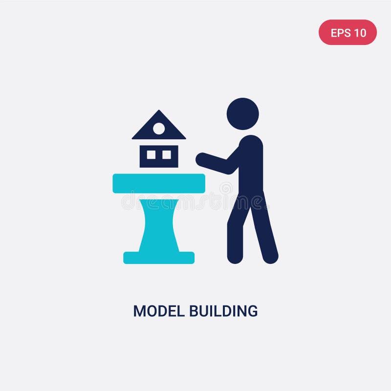 icône de vecteur de création de modèles de deux couleurs d'activité et de concept de passe-temps le symbole bleu d'isolement de s illustration libre de droits