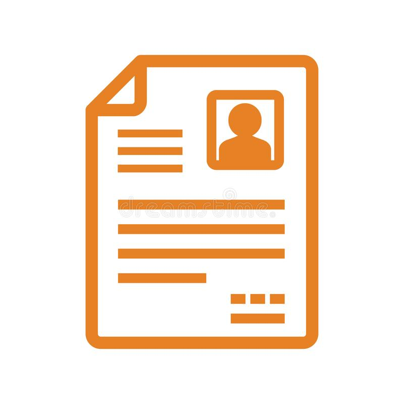 Icône de vecteur de CV/Resume illustration stock