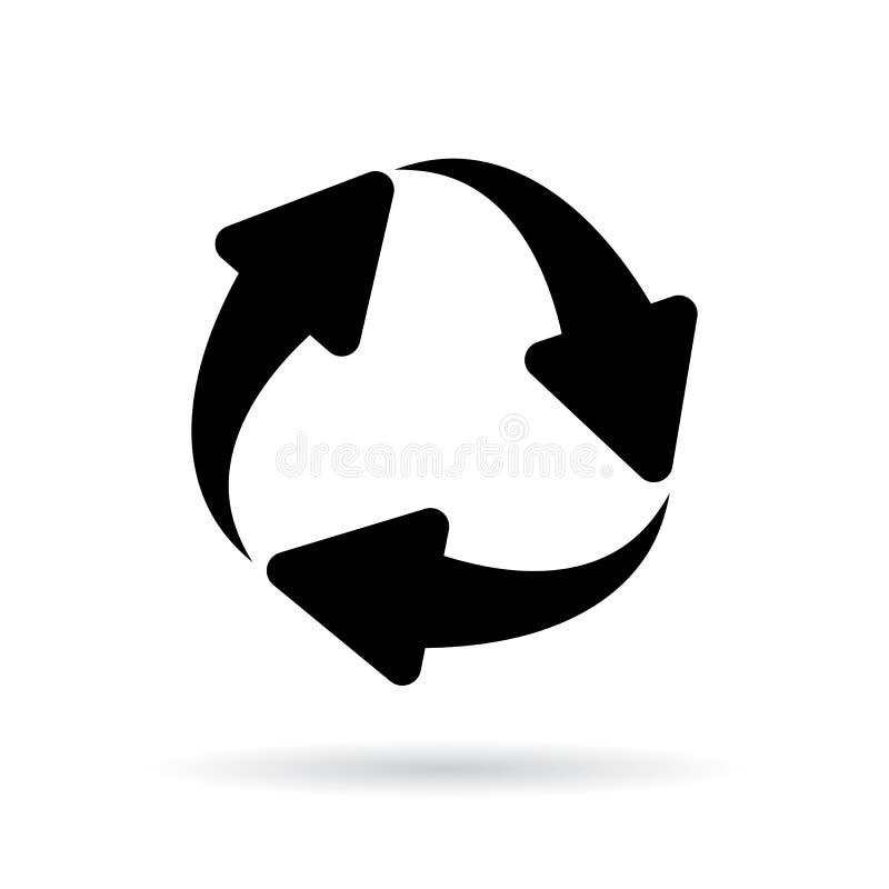 Icône de vecteur de cycle de flèches illustration de vecteur