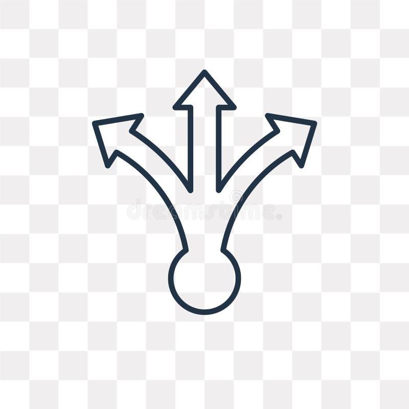 Icône de vecteur de décision d'isolement sur le fond transparent, linéaire illustration de vecteur