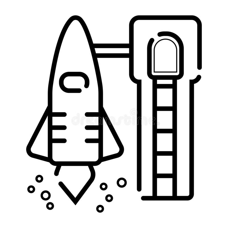 Icône de vecteur de décollage illustration stock