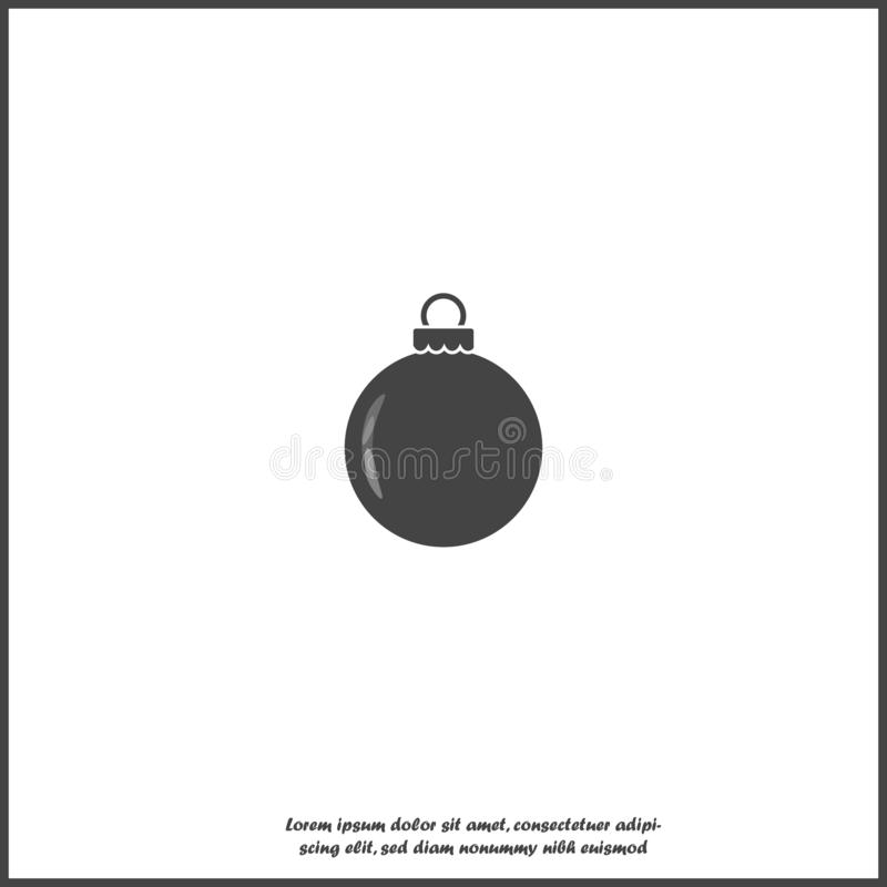 Icône de vecteur de décoration de boule de Noël sur le fond d'isolement blanc Couches group?es pour l'illustration de ?dition fac illustration de vecteur