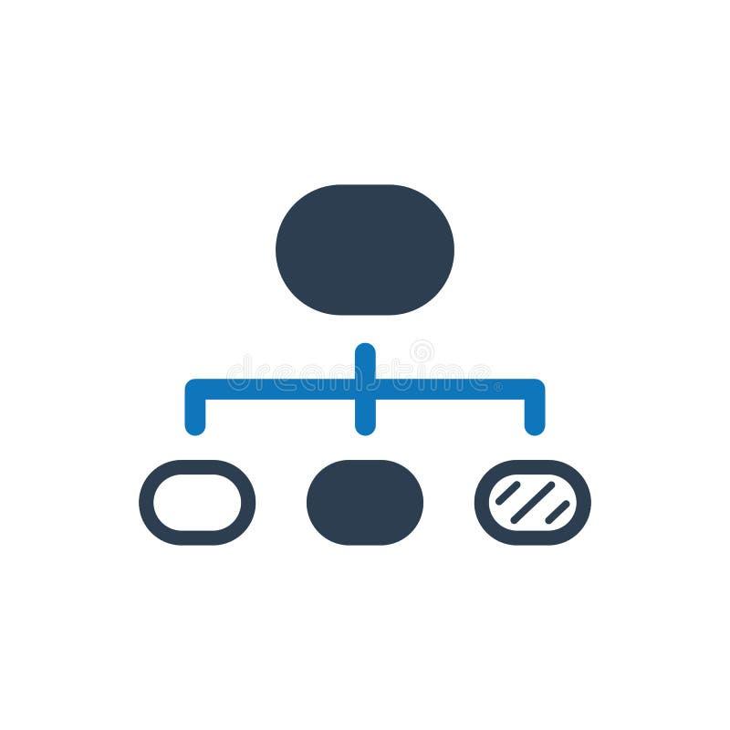 Icône de vecteur de déroulement des opérations illustration stock