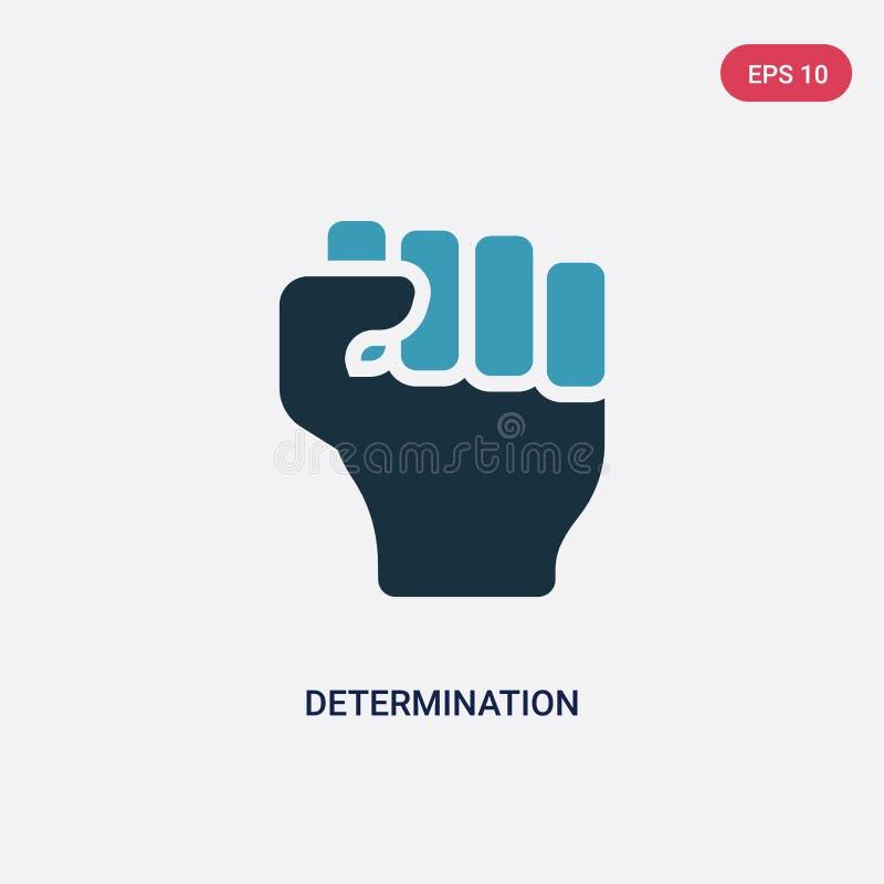Icône de vecteur de détermination de deux couleurs de concept de nature le symbole bleu d'isolement de signe de vecteur de déterm illustration libre de droits