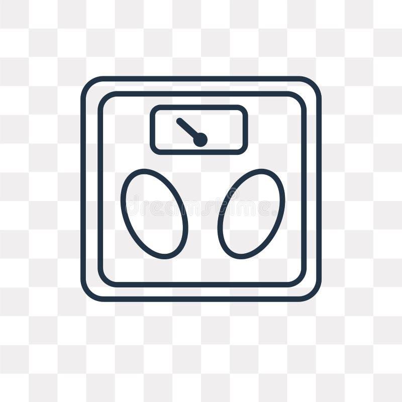 Icône de vecteur d'échelle d'isolement sur le fond transparent, Sca linéaire illustration stock