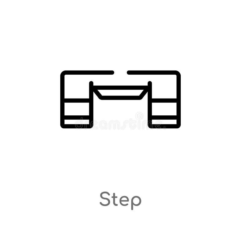 ic?ne de vecteur d'?tape d'ensemble ligne simple noire d'isolement illustration d'?l?ment de concept d'?quipement de gymnase ?tap illustration libre de droits