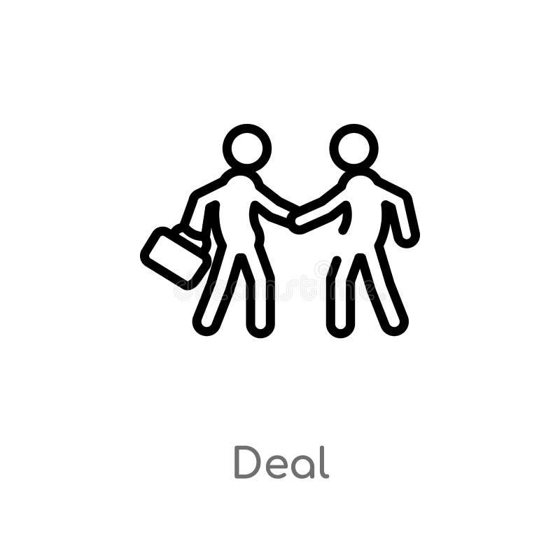 icône de vecteur d'affaire d'ensemble ligne simple noire d'isolement illustration d'élément de concept de stratégie icône editabl illustration stock