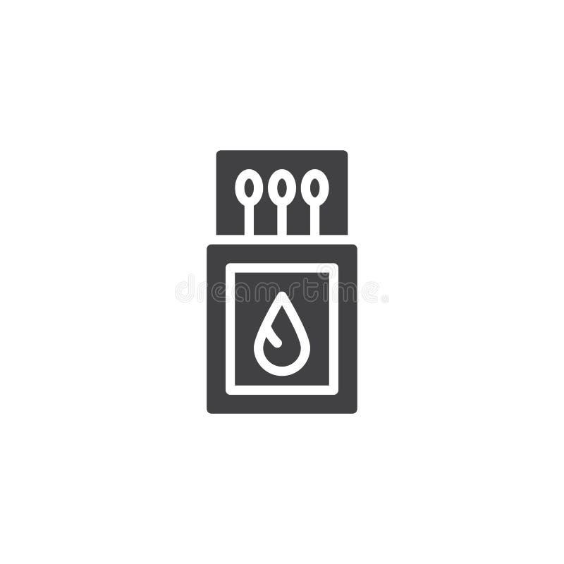 Icône de vecteur d'allumettes illustration de vecteur