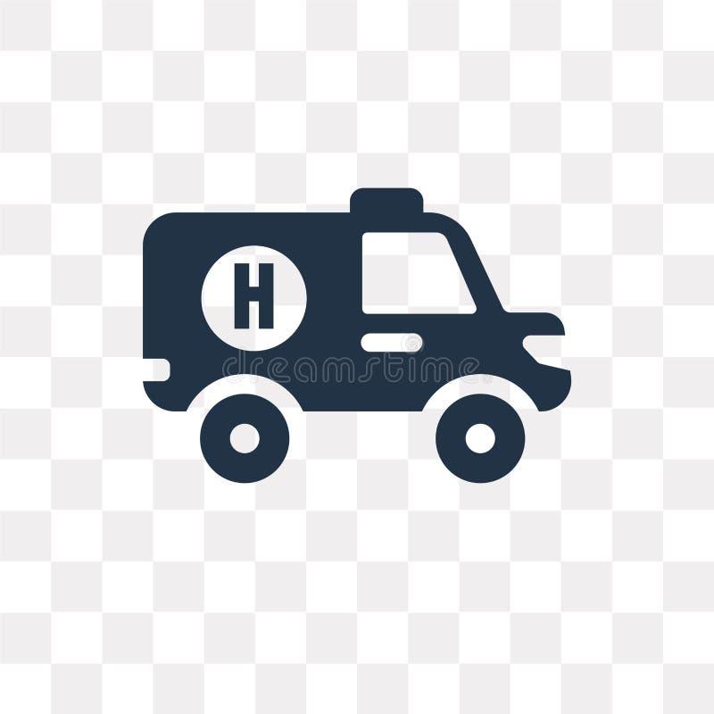 Icône de vecteur d'ambulance d'isolement sur le fond transparent, Ambula illustration de vecteur