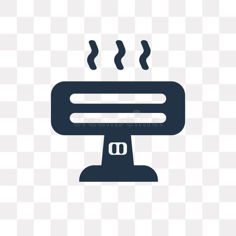Icône de vecteur d'appareil de chauffage d'isolement sur le fond transparent, appareil de chauffage t illustration de vecteur