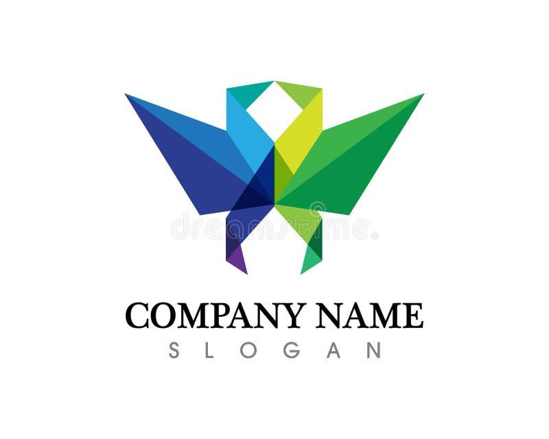 Icône de vecteur d'Eagle Bird Logo Template de faucon illustration stock