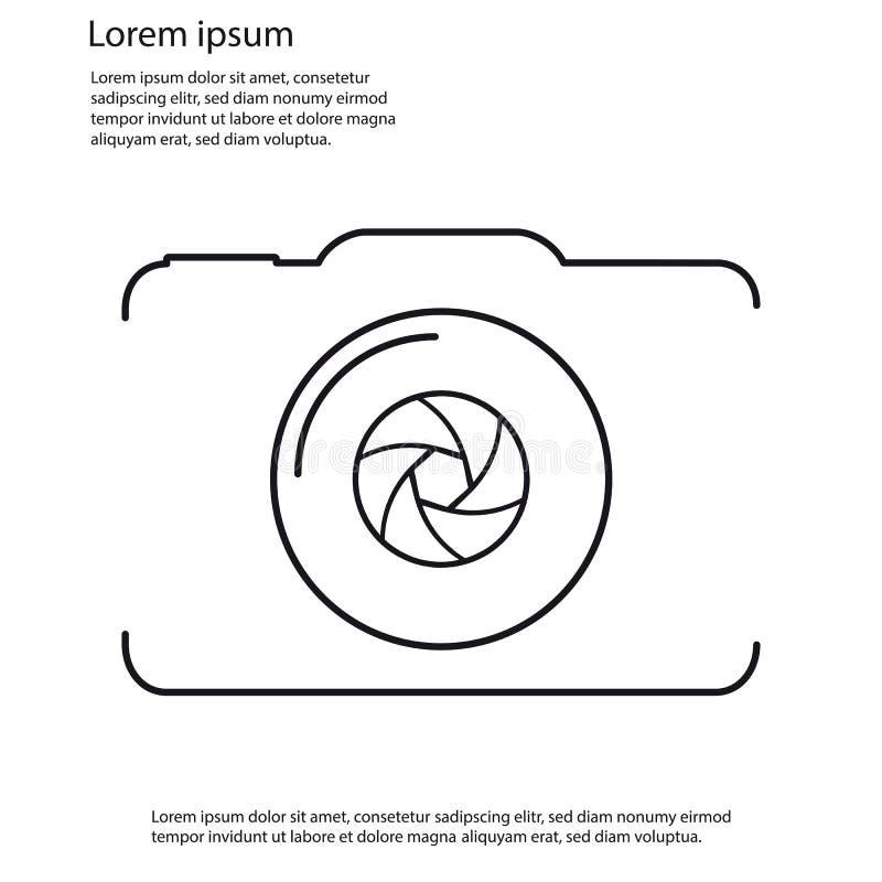 Icône de vecteur d'ensemble d'appareil-photo - d'isolement sur le fond blanc illustration de vecteur