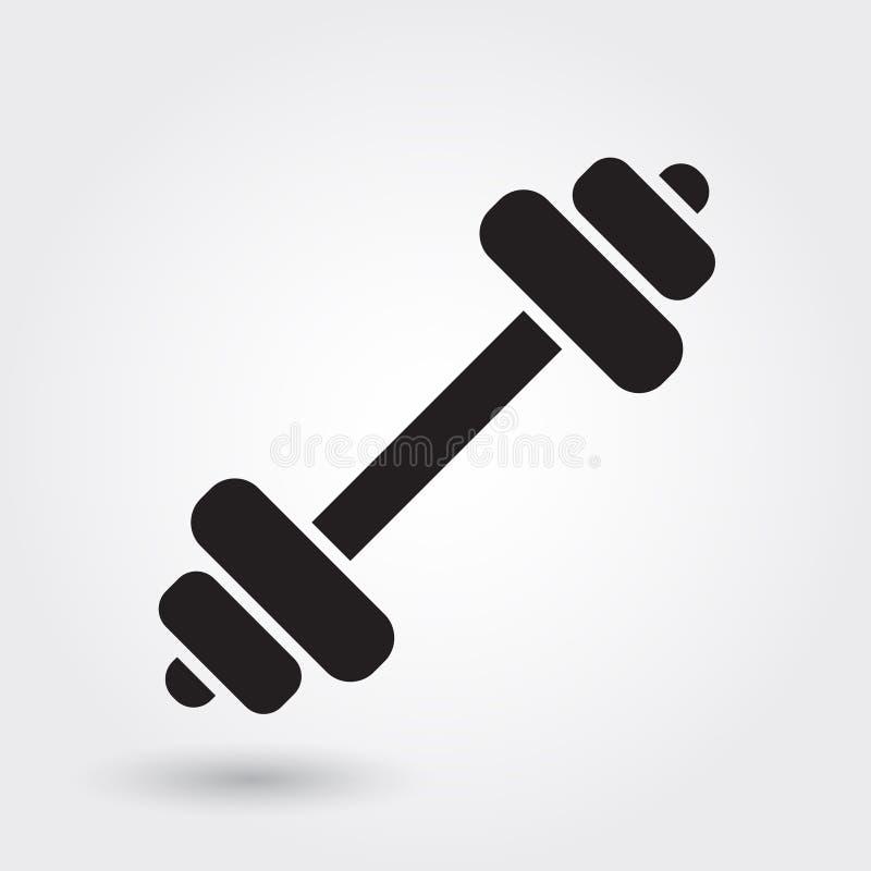 Icône de vecteur d'haltère, forme physique et icône de gymnase Glyph moderne et simple, illustration solide de vecteur illustration libre de droits