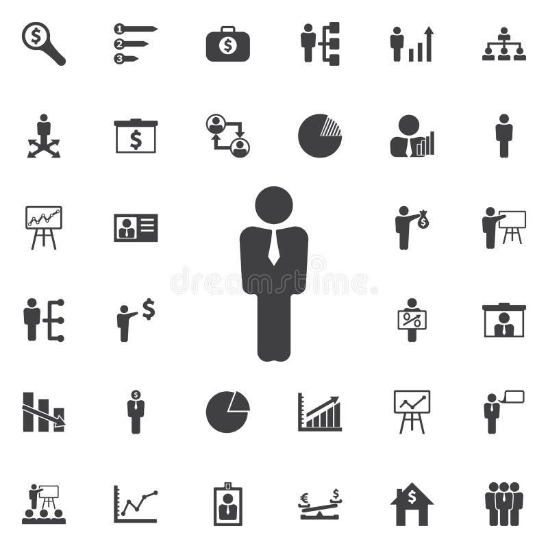 Icône de vecteur d'homme d'affaires ou de directeur illustration de vecteur