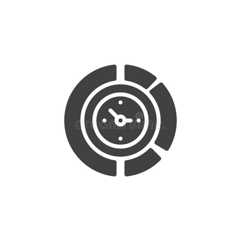 Icône de vecteur d'horloge de diagramme illustration libre de droits