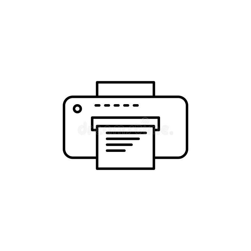 Icône de vecteur d'imprimante, symbole d'impression de document Illustration plate moderne et simple de vecteur pour le site Web  illustration libre de droits