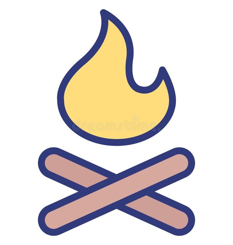 Icône de vecteur d'isolement par brûlure qui peut facilement modifier ou éditer l'icône de vecteur d'isolement par brûlure qui pe illustration stock