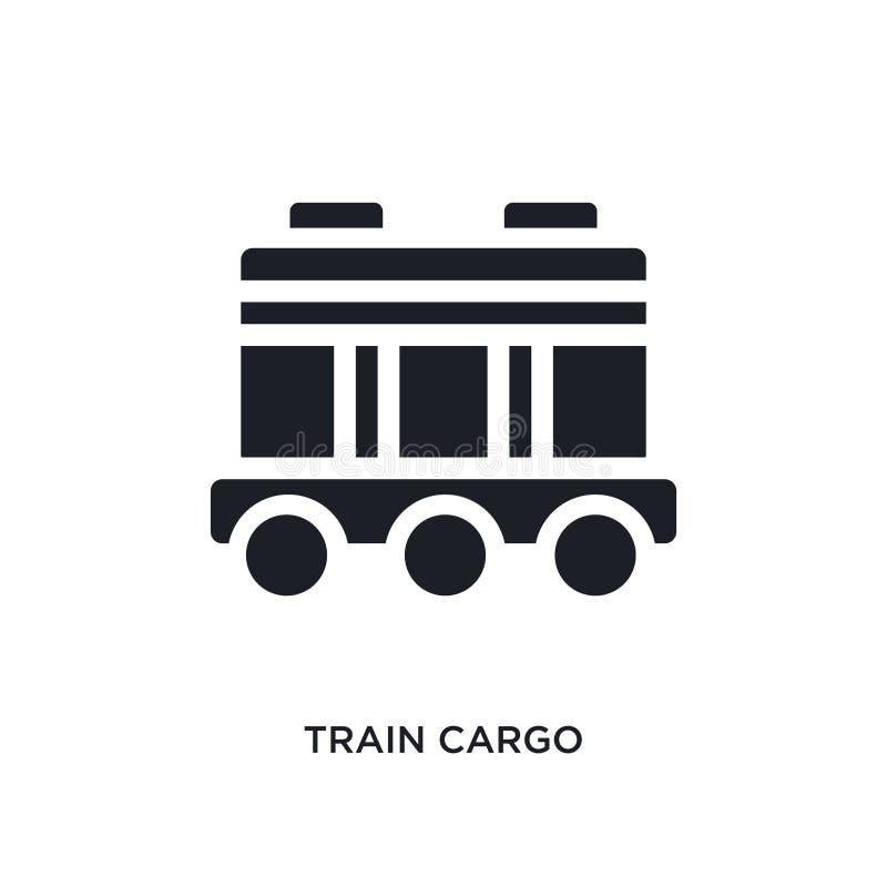 icône de vecteur d'isolement par cargaison noire de train illustration simple d'?l?ment des ic?nes de vecteur de concept d'indust illustration de vecteur
