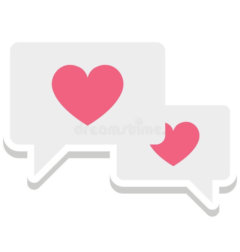Icône de vecteur d'isolement par compassion qui peut être facilement modifiée ou éditée illustration stock