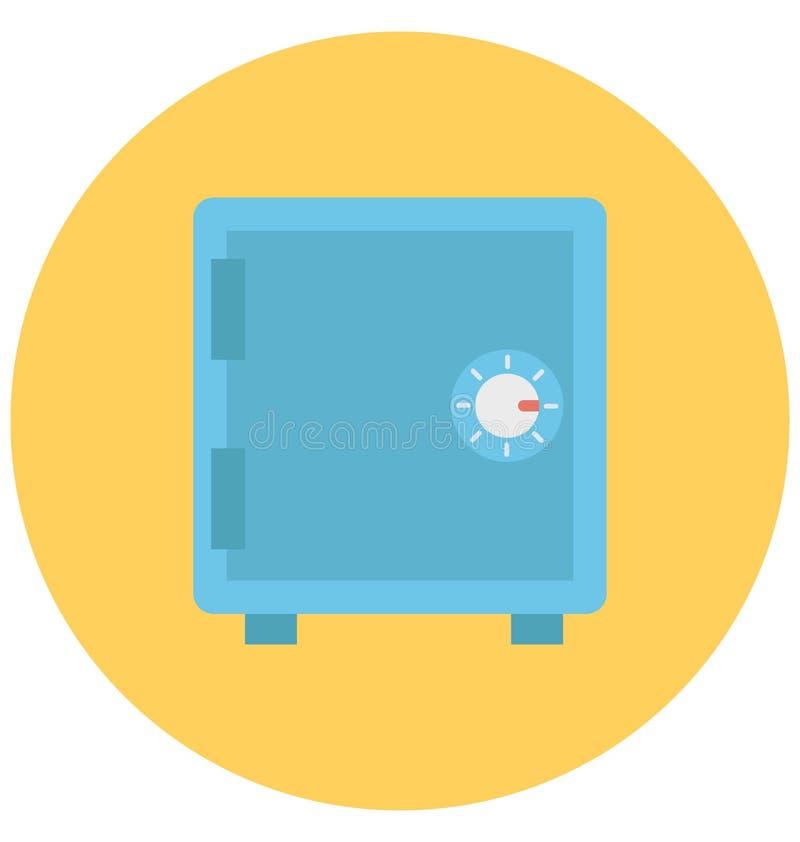 Icône de vecteur d'isolement par couleur de chambre forte de banque qui peut être facilement d'éditer ou modifié illustration de vecteur