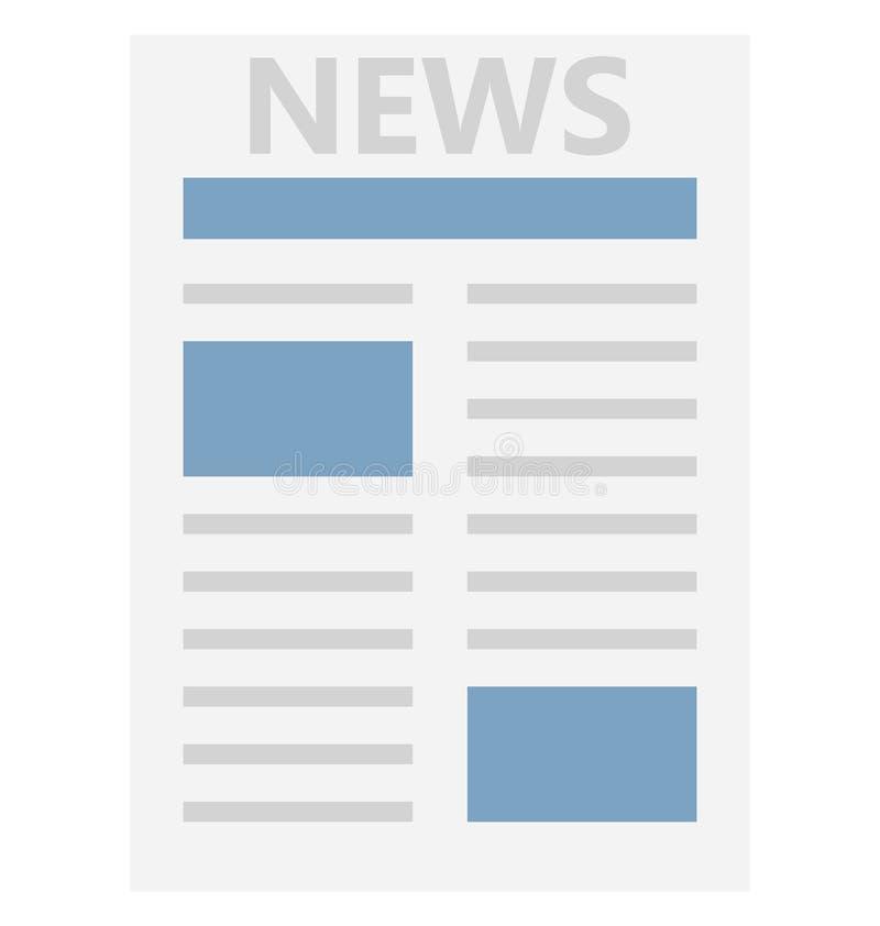 Icône de vecteur d'isolement par couleur de journal qui peut être facilement modifiée ou éditée illustration stock