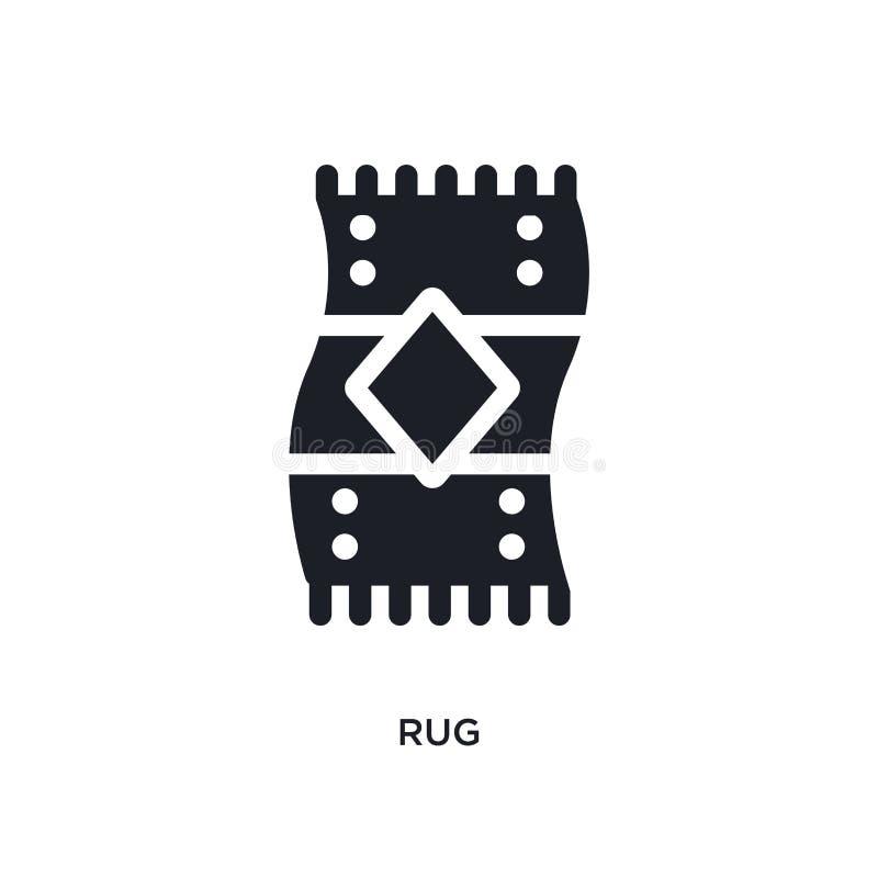 icône de vecteur d'isolement par couverture noire illustration simple d'élément des icônes de vecteur de concept de meubles et de illustration stock