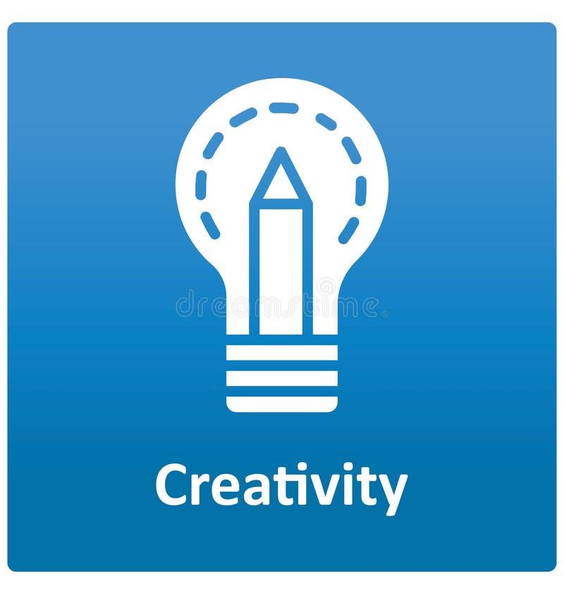 Icône de vecteur d'isolement par créativité qui peut facilement modifié ou éditer Icône de vecteur d'isolement par créativité qui illustration de vecteur
