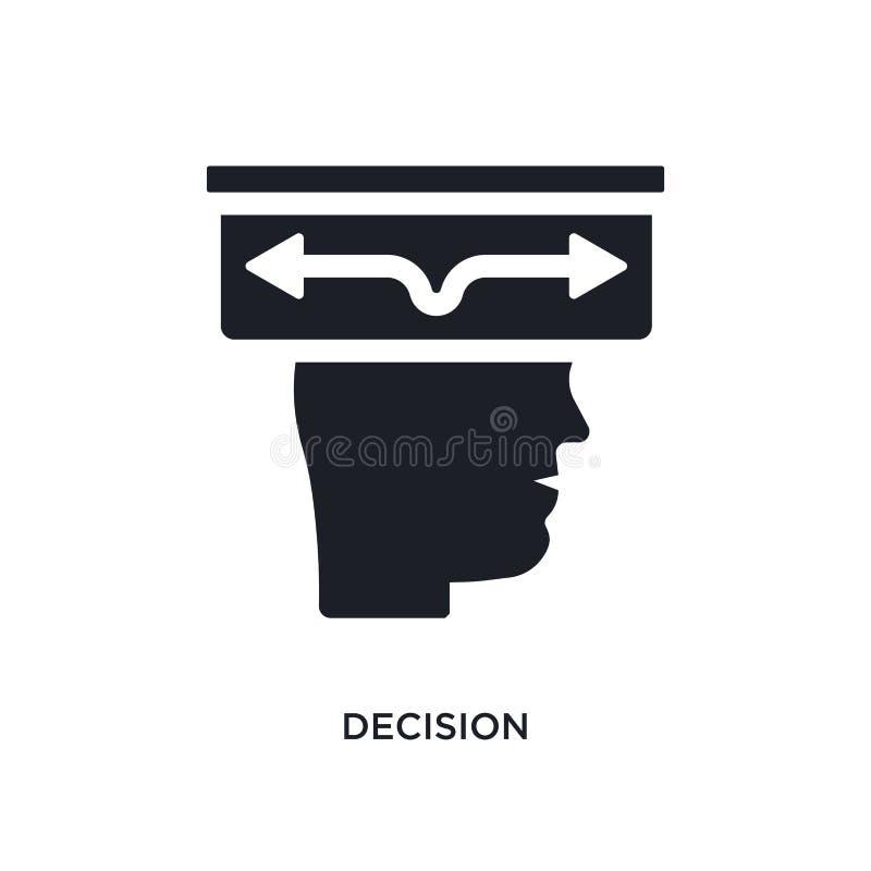 icône de vecteur d'isolement par décision noire illustration simple d'élément des icônes de démarrage de vecteur de concept symbo illustration stock