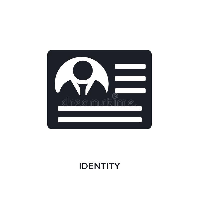 icône de vecteur d'isolement par identité noire illustration simple d'élément des icônes de démarrage de vecteur de concept symbo illustration stock