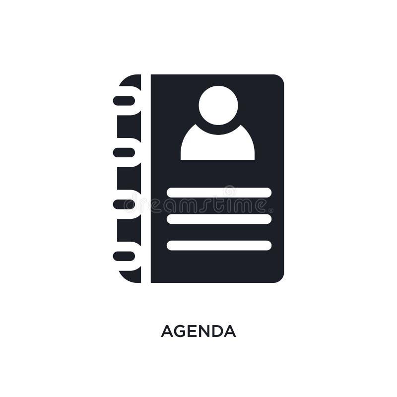 icône de vecteur d'isolement par ordre du jour noir illustration simple d'élément des icônes de vecteur de concept d'hôtel concep illustration libre de droits
