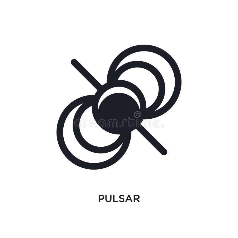 icône de vecteur d'isolement par pulsar noir illustration simple d'?l?ment des ic?nes de vecteur de concept d'astronomie logo noi illustration stock