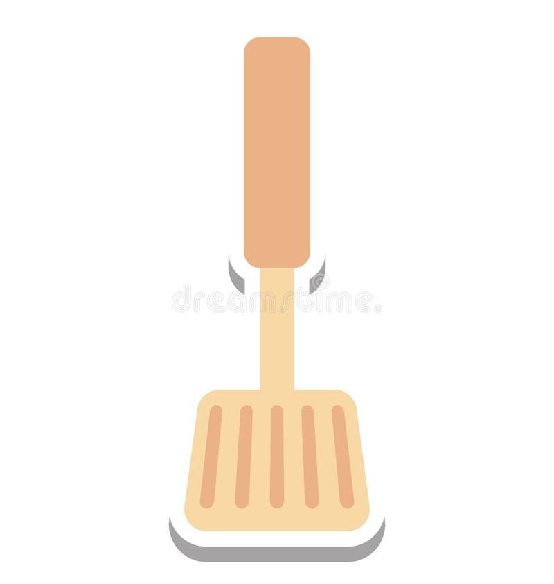 Icône de vecteur d'isolement par spatule editable illustration libre de droits