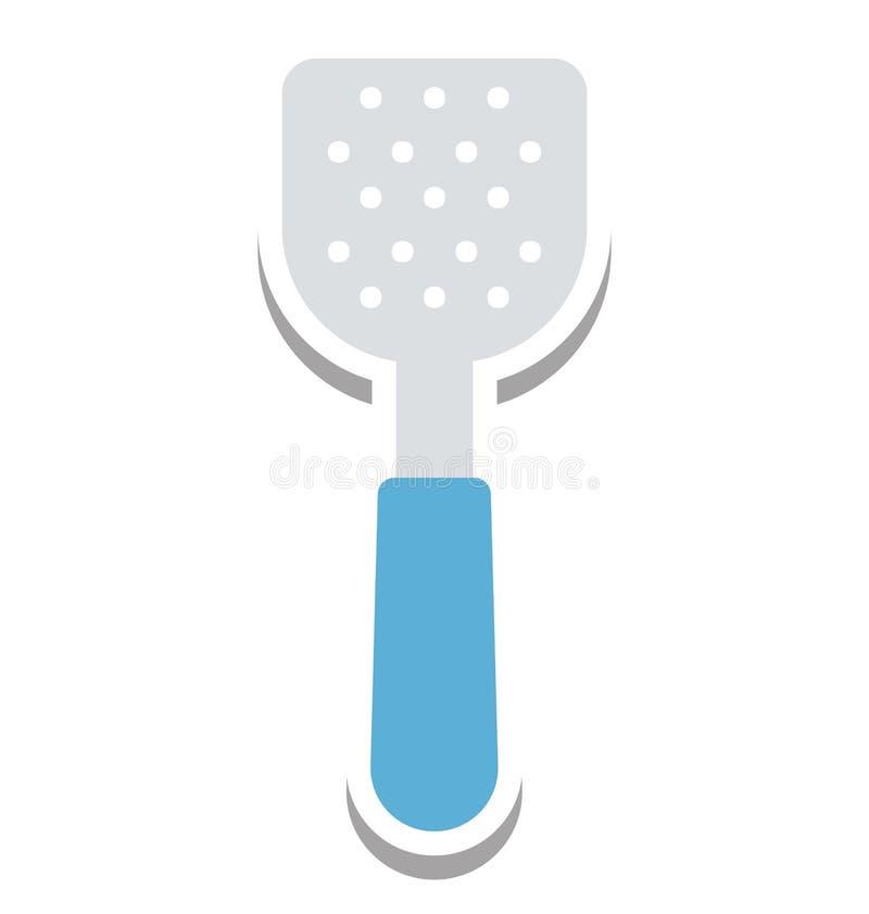 Icône de vecteur d'isolement par spatule editable illustration de vecteur