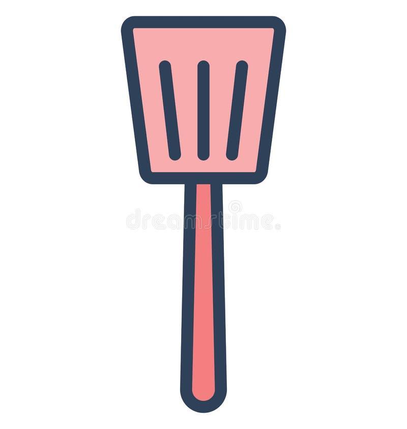 Icône de vecteur d'isolement par spatule qui peut être facilement modifiée ou éditée illustration libre de droits