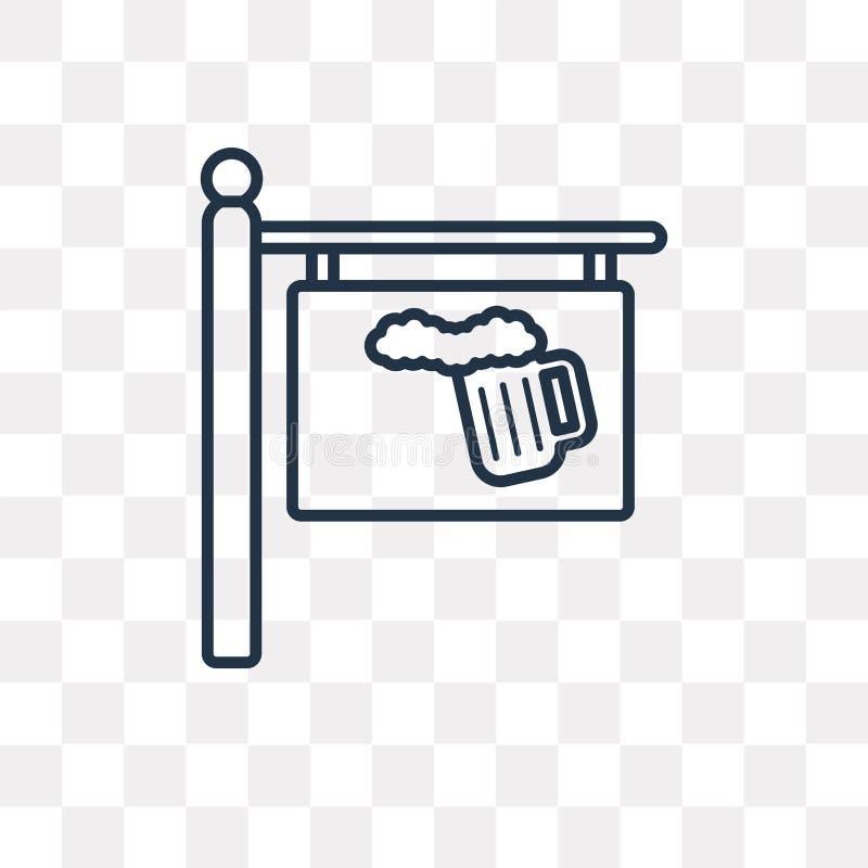icône de vecteur d'isolement sur le fond transparent, transpa linéaire illustration libre de droits