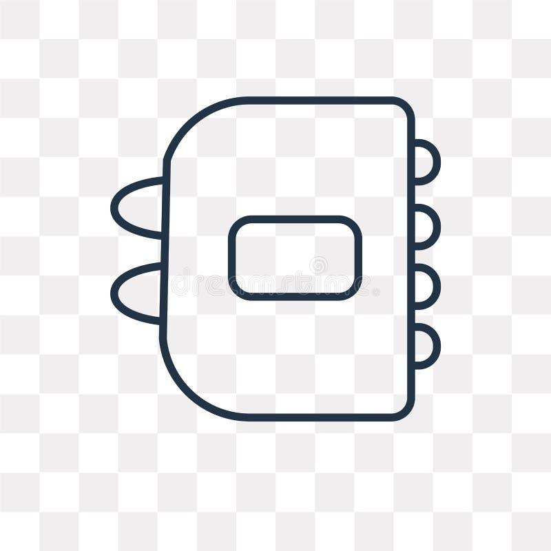 Icône de vecteur d'ordre du jour d'isolement sur le fond transparent, AG linéaire illustration de vecteur