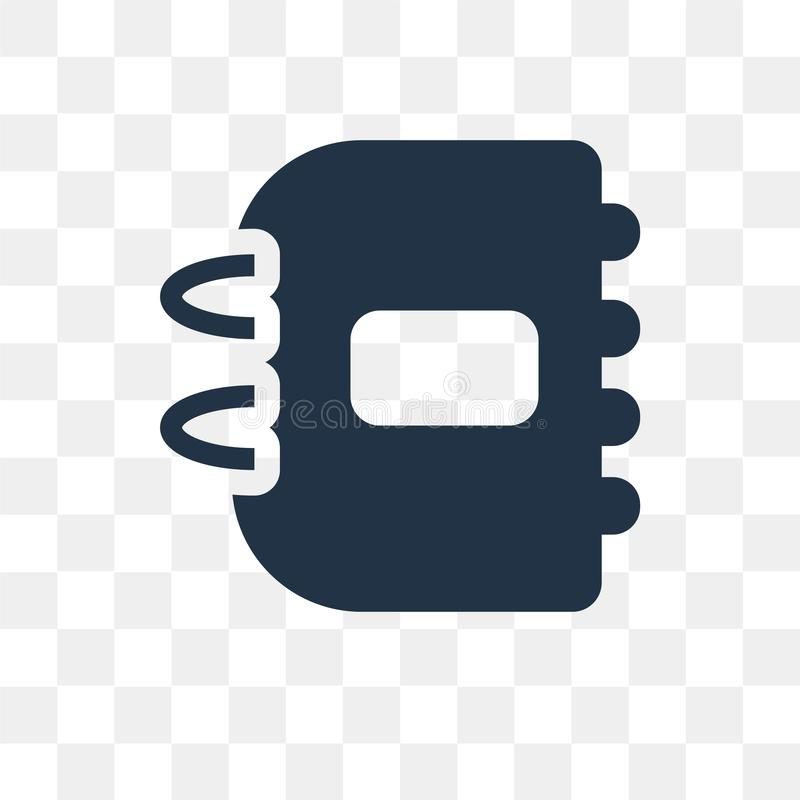 Icône de vecteur d'ordre du jour d'isolement sur le fond transparent, ordre du jour t illustration de vecteur